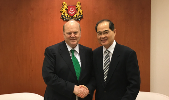 Minister Michael Noonan and Minister Lim Hng Kiang